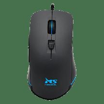 MS INDUSTRIAL gejmerski miš STINGER PRO RGB (Crni)  Optički, 3200dpi, Dizajniran za desnu ruku, Crna