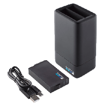 GOPRO punjač i baterija FUSION DUAL BATTERY CHAR (Crni) - ASDBC-001-EU,  Baterija i punjači, Crna