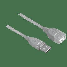 HAMA produžni USB kabl, 1.8m (sivi) - 45027,  USB 2.0 - do 480 Mbps, USB-A, USB-A (ž), Okrugli