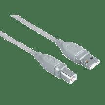HAMA USB kabl za štampač - 3m (Sivi) - 00045022,  USB 2.0 - do 480 Mbps, USB-A, USB-B, Okrugli