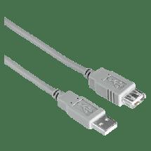 HAMA produžni USB kabl 1.8m, (Grey) - 00030619,  USB 2.0 - do 480 Mbps, USB-A, USB-A (ž), Okrugli