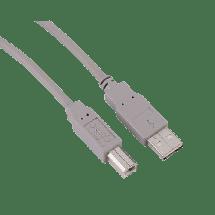 HAMA USB kabl za štampač 1.8m - 29099,  USB 2.0 - do 480 Mbps, USB-A, USB-B, Okrugli