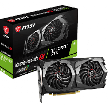 MSI GeForce GTX 1650 Gaming X 4G  Nvidia GeForce GTX 1650, 4GB, GDDR5, 128bit