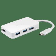 D-LINK USB hub 4port USB 3.0 - DUB-H410  4 x USB-A 3.0  , USB 3.0 - C, Bela