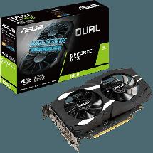 ASUSU Dual GeForce® GTX 1650 4GB GDDR5 - DUAL-GTX1650-4G  Nvidia GeForce GTX 1650, 4GB, GDDR5, 128bit