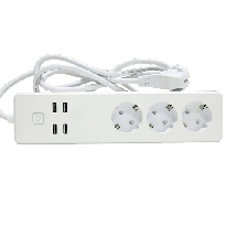 WOOX pametni produžni kabl (beli) - R4028  Tip E, Daljinska kontrola (bežična), IFTTT