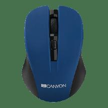 CANYON bežični miš CNE-CMSW1BL (Crno/Plavi)  Optički, 1200dpi, 2.4GHz, Ergonomski dizajniran