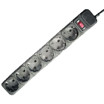 GEMBIRD produžni kabl za zaštitom 6 utičnica 4.5 m (crni) - SPG-B-15  Monofazna, 6 utičnica