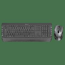 TRUST Bežična tastatura i miš TECLA-2 (Crna)  USB nano prijemnik, Membranski tasteri, EN (US), Alkalna baterija