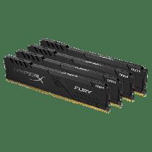 Memorija KINGSTON HyperX Fury Black 64GB kit (4x16GB) 3466MHz CL16 - HX434C16FB3K4/64  64GB kit, DDR4, 3466MHz, CL16