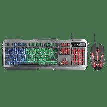 TRUST gejmerska tastatura i miš GXT 845 Tural - 22457  Membranski tasteri, EN (US), 104