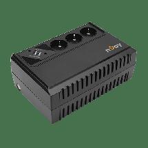 NJOY Ups uređaj Renton 650 VA 360 W - UPLI-LI065RE-CG01B,  650VA / 360W, Line-Interactive, 170-280 VAC, 230VAC