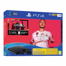 SONY konzola PLAYSTATION 4 SLIM 1TB + DUALSHOCK 4 + FIFA 20 -  PS4, 2 kontrolera, Crna