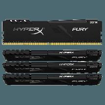 Memorija KINGSTON HyperX FURY 64GB (4 x 16GB) DDR4 3600MHz CL17 - HX436C17FB3K4/64  64GB kit, DDR4, 3600MHz, CL17
