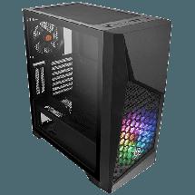 THERMALTAKE Kućište Commander G32 TG ARGB - CA-1P2-00M1WN-00  Midi Tower, Micro-ATX, Mini-ITX, ATX, Bez napajanja, Crna