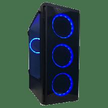 ZEUS Kućište BLUE D08  Full Tower, Micro-ATX, Mini-ITX, ATX, Bez napajanja, Crna