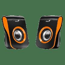 GENIUS Zvučnici za računar SP-Q180 (Narandžasti/Crni)  2.0, 6W, 150Hz-20KHz, 4 Ohm