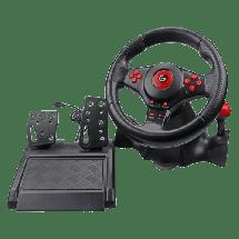 GEMBRID Gejmerski volan STR-ShockForce 2  Manuelni menjač, Gas i kočnica, Windows