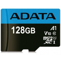 UHS-I MicroSDXC 128GB class 10 + adapter AUSDX128GUICL10A1-RA1