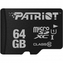Micro SDHC 64GB Patriot Class 10 LX Series UHS-I PSF64GMCSDXC10 up to 85MB/s